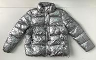 Куртка женская серебристого цвета