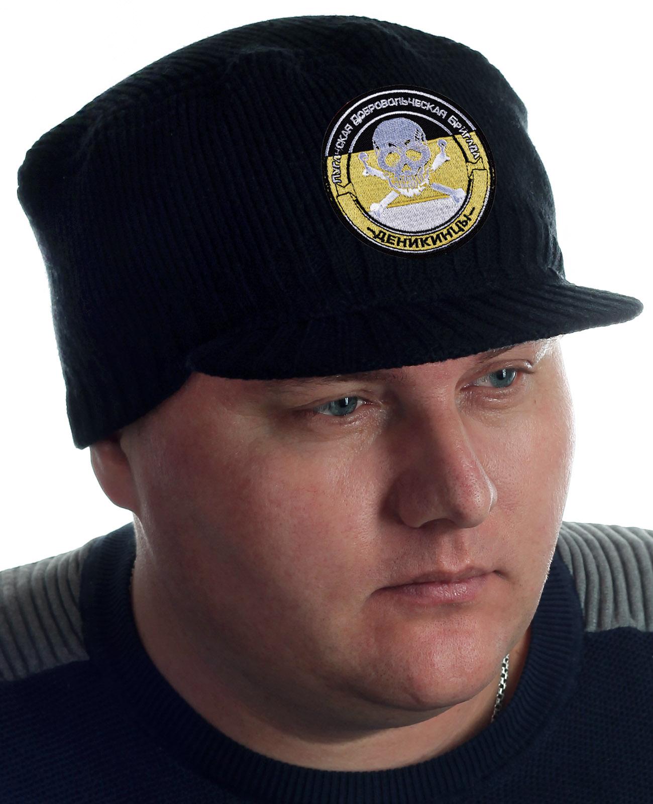 Купить лаконичную черную шапку с козырьком от бренда Miller Way оптом или в розницу