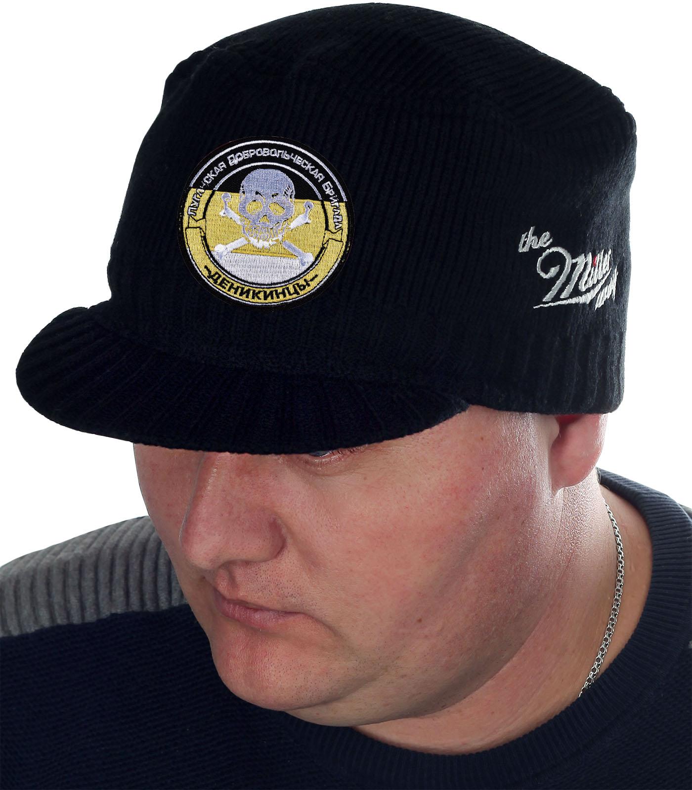 Лаконичная черная шапка с козырьком от бренда Miller Way - заказать с доставкой