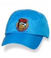Лаконичная голубая бейсболка с термотрансфером Морская Пехота
