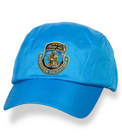 Лаконичная голубая бейсболка с термотрансфером Военная Разведка