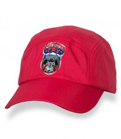 Лаконичная красная бейсболка с термотрансфером Спецназ ГРУ