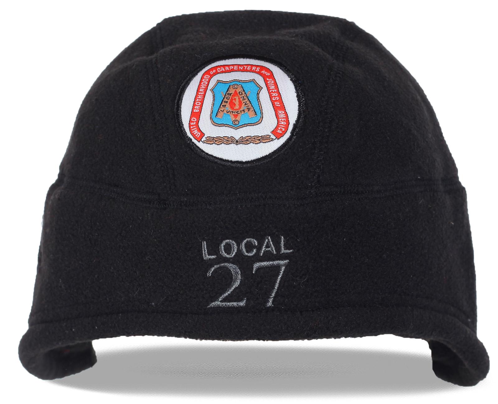 Лаконичная мужская флисовая шапка со стильной нашивкой. Приобретайте сейчас комфорт и качество по минимальной цене