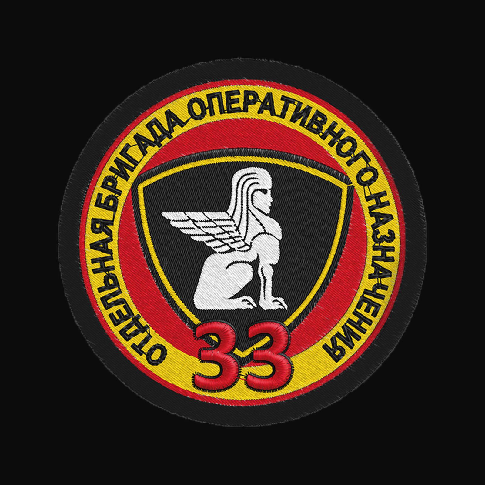 Лаконичная мужская толстовка с шевроном 33 ОДОН ВВ МВД