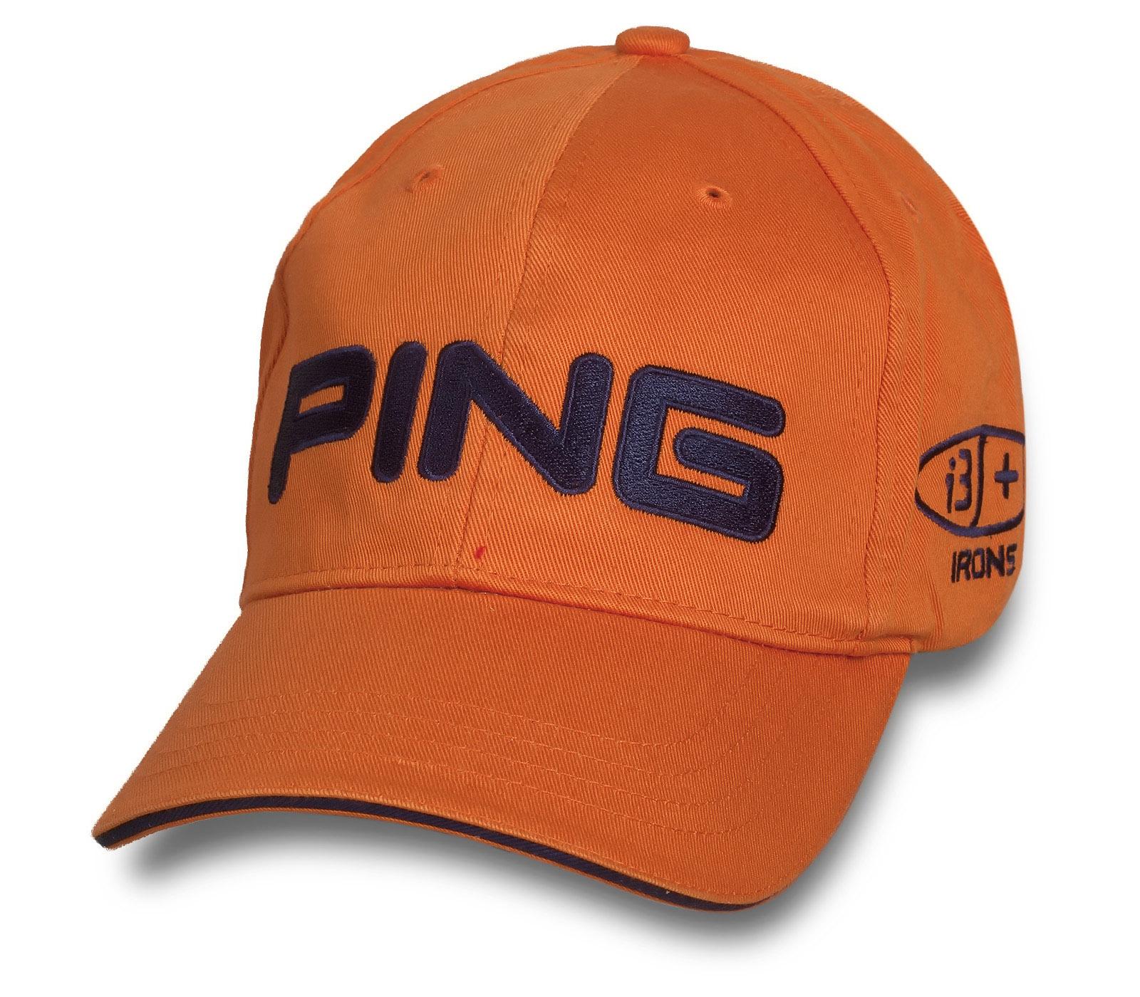 Лаконичная оранжевая бейсболка Ping