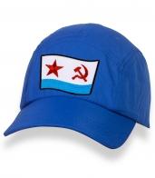 Лаконичная синяя бейсболка с нашивкой ВМФ СССР