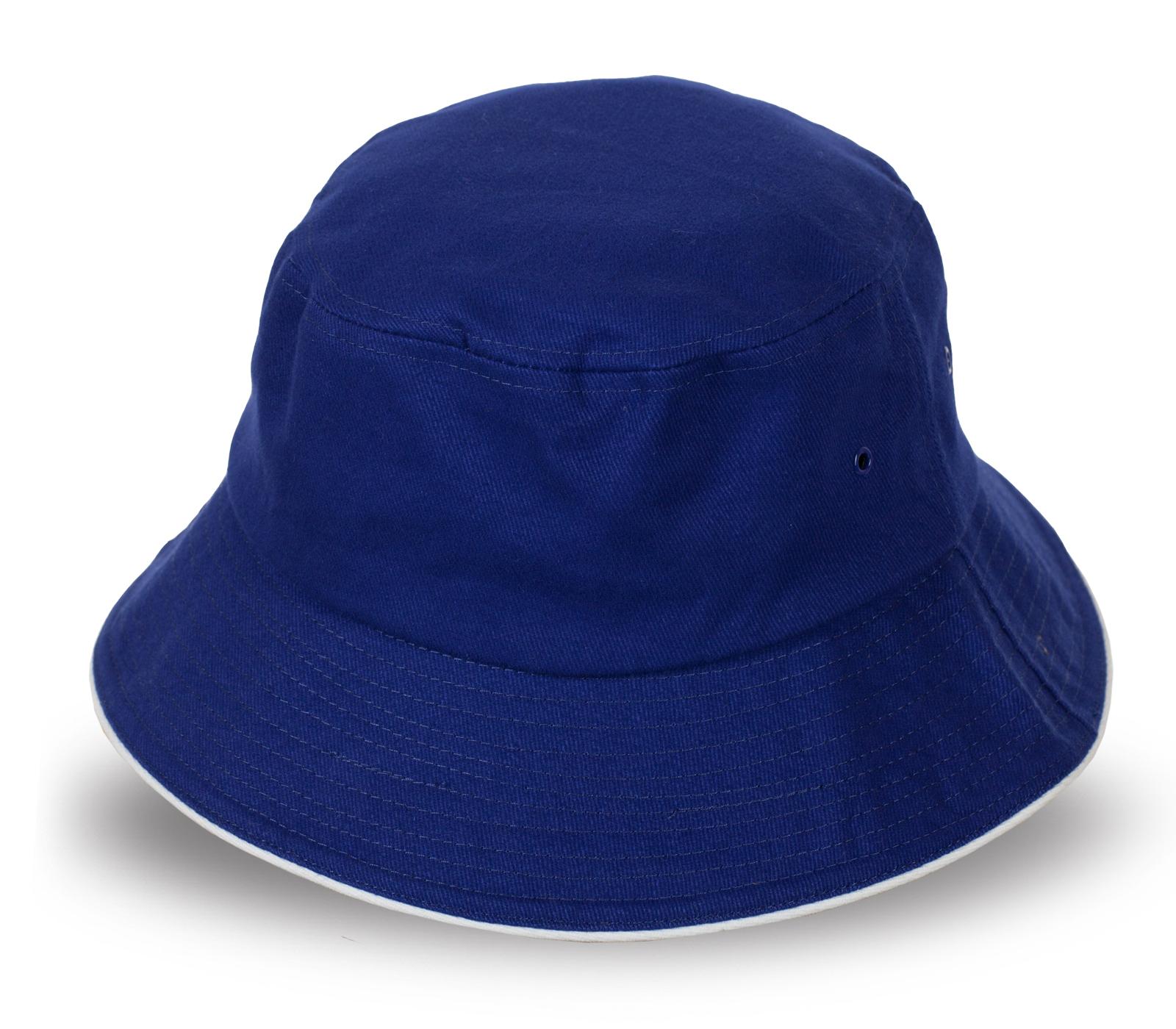 Лаконичная синяя панама для отпуска у моря
