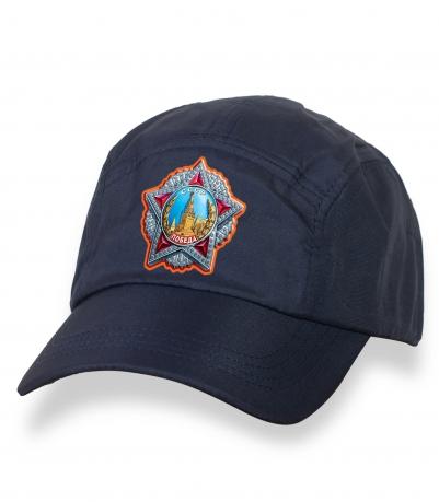 Лаконичная темно-синяя бейсболка с термотрансфером Орден Победы