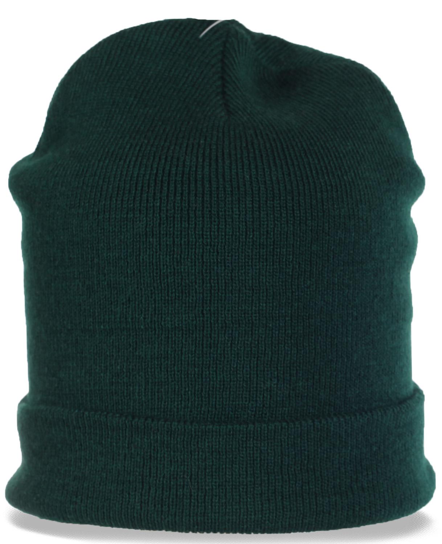 Лаконичная трикотажная мужская шапка с отворотом. Практичный стильный аксессуар в Ваш гардероб. Долго не раздумывайте, покупайте!