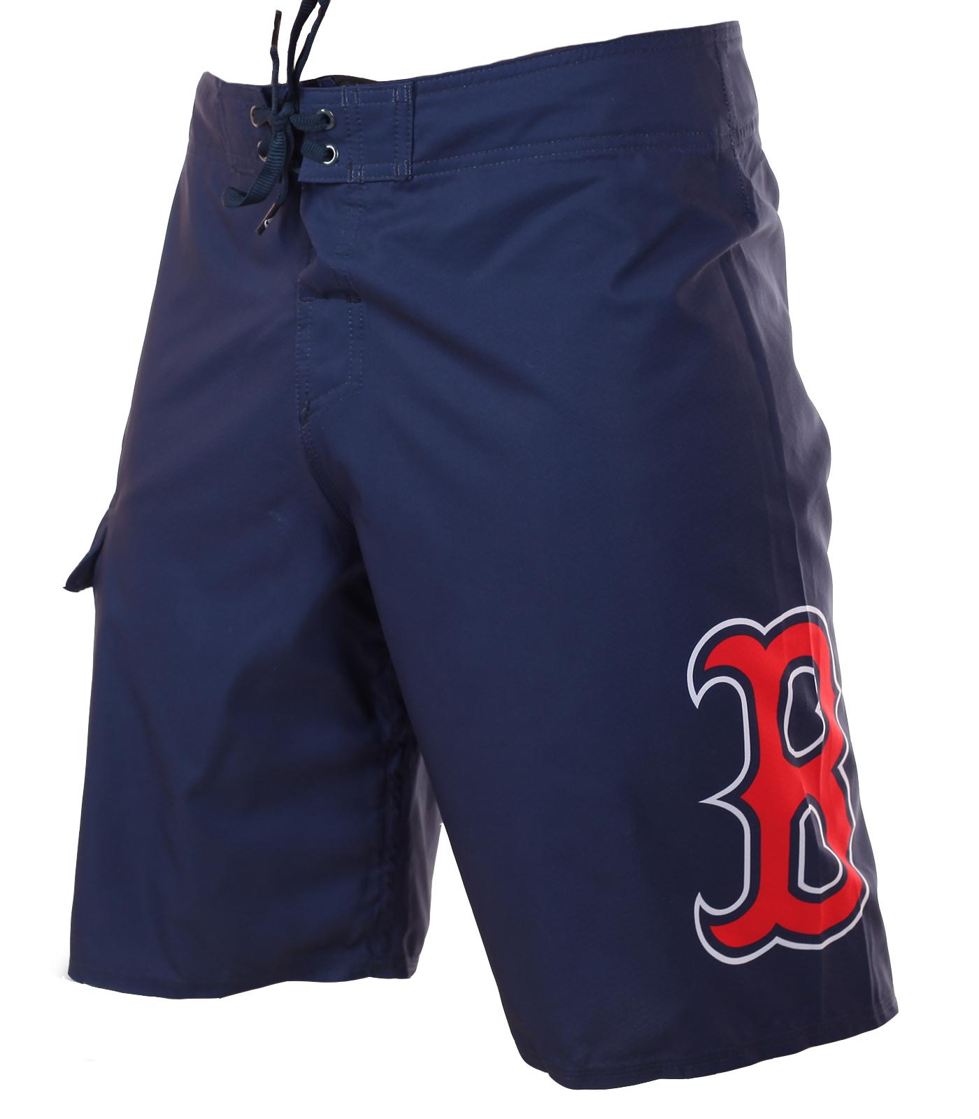 Лаконичные бордшорты с лого бейсбольного клуба MLB Boston Red Sox - купить по низкой цене