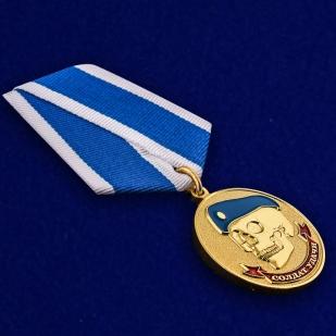 Латунная медаль ВДВ Солдат удачи - общий вид