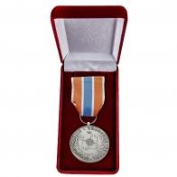 "Латунная медаль МЧС ""Участнику чрезвычайных гуманитарных операций"" - в футляре"