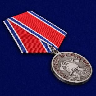 """Латунная медаль МЧС """"За отвагу на пожаре"""" - общий вид"""