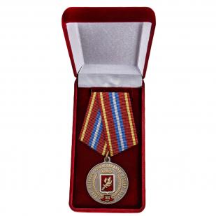 Латунная медаль За безупречную службу к 100-летию Военных комиссариатов России - в футляре