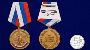 Латунная медаль За особые успехи в учении - сравнительный вид