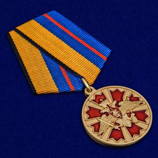Латунная медаль За службу в Ракетных войсках стратегического назначения - общий вид
