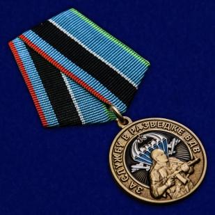Латунная медаль За службу в разведке ВДВ - общий вид