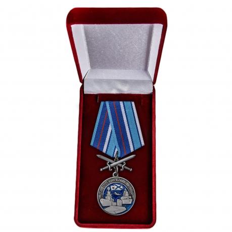 Латунная медаль За службу в ВМФ - в футляре