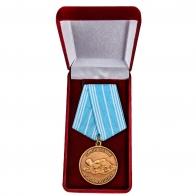 Латунная медаль За спасение утопающих Россия - в футляре