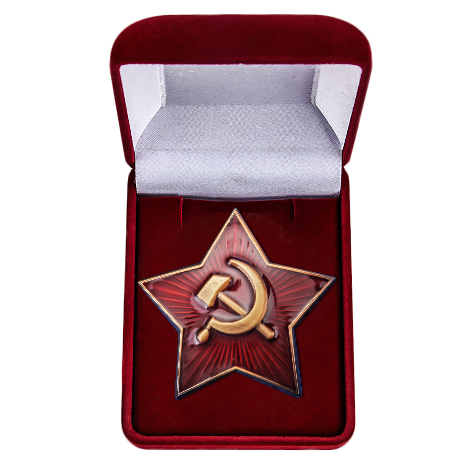 Латунная звезда кокарда РККА 1922 г.