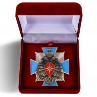 Латунный крест МЧС России - в футляре
