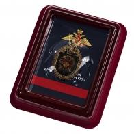 Латунный знак 14-я отдельная бригада специального назначения ГРУ - в футляре