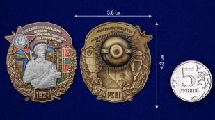 Латунный знак 55 Сковородинский ордена Красной звезды Пограничный отряд - сравнительный вид