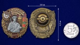 Латунный знак 63 Биробиджанский Краснознамённый Пограничный отряд - сравнительный вид