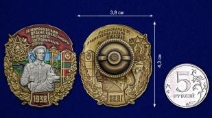 Латунный знак 78 Шимановский ордена Александра Невского Пограничный отряд - сравнительный вид