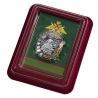 Латунный знак 81 Термезский ордена Красной Звезды пограничный отряд - в футляре