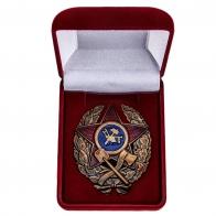 Латунный знак Красного командира инженерных частей РККА - в футляре