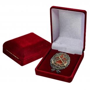 Латунный знак Красного командира РККФ - в футляре