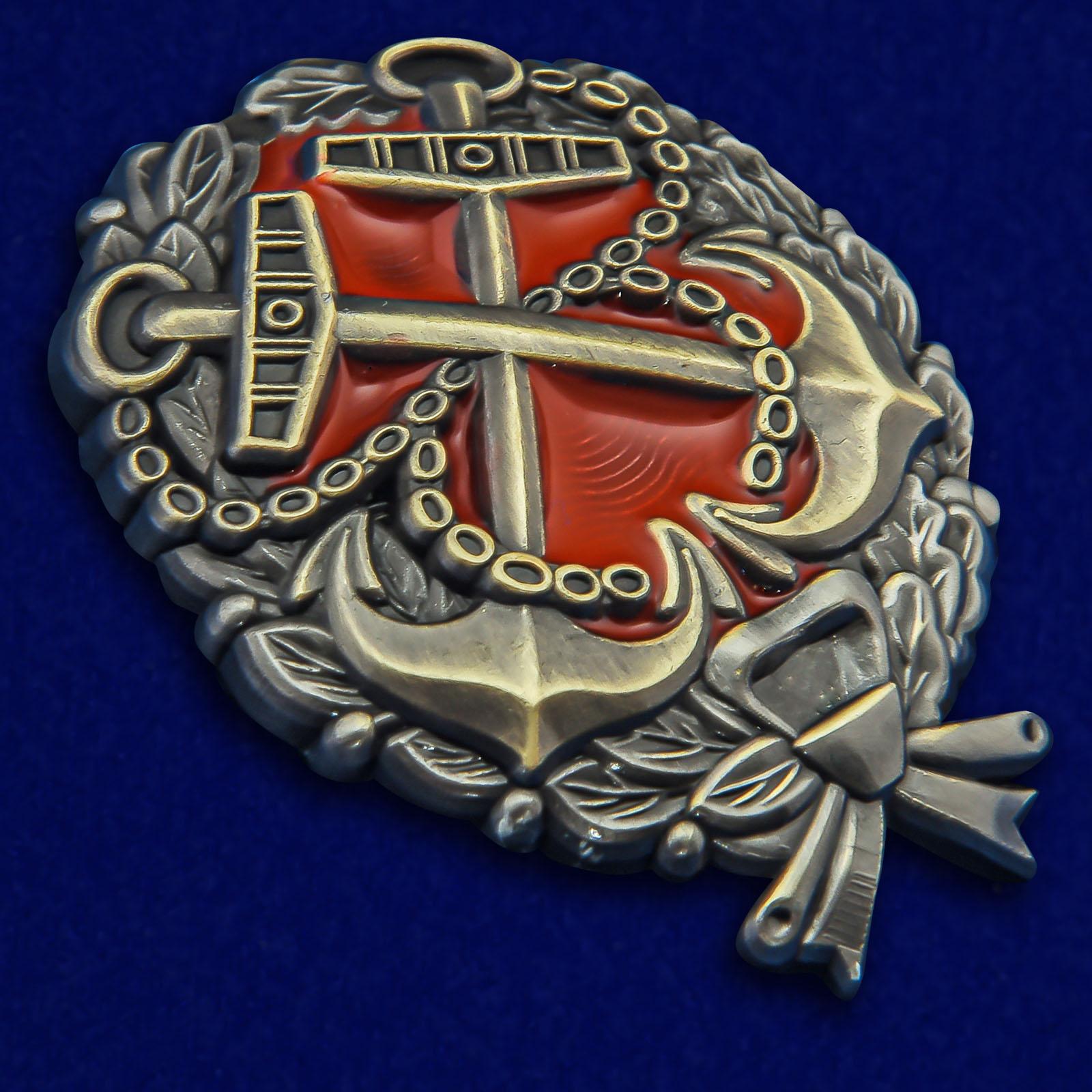 Латунный знак Красного командира РККФ - общий вид