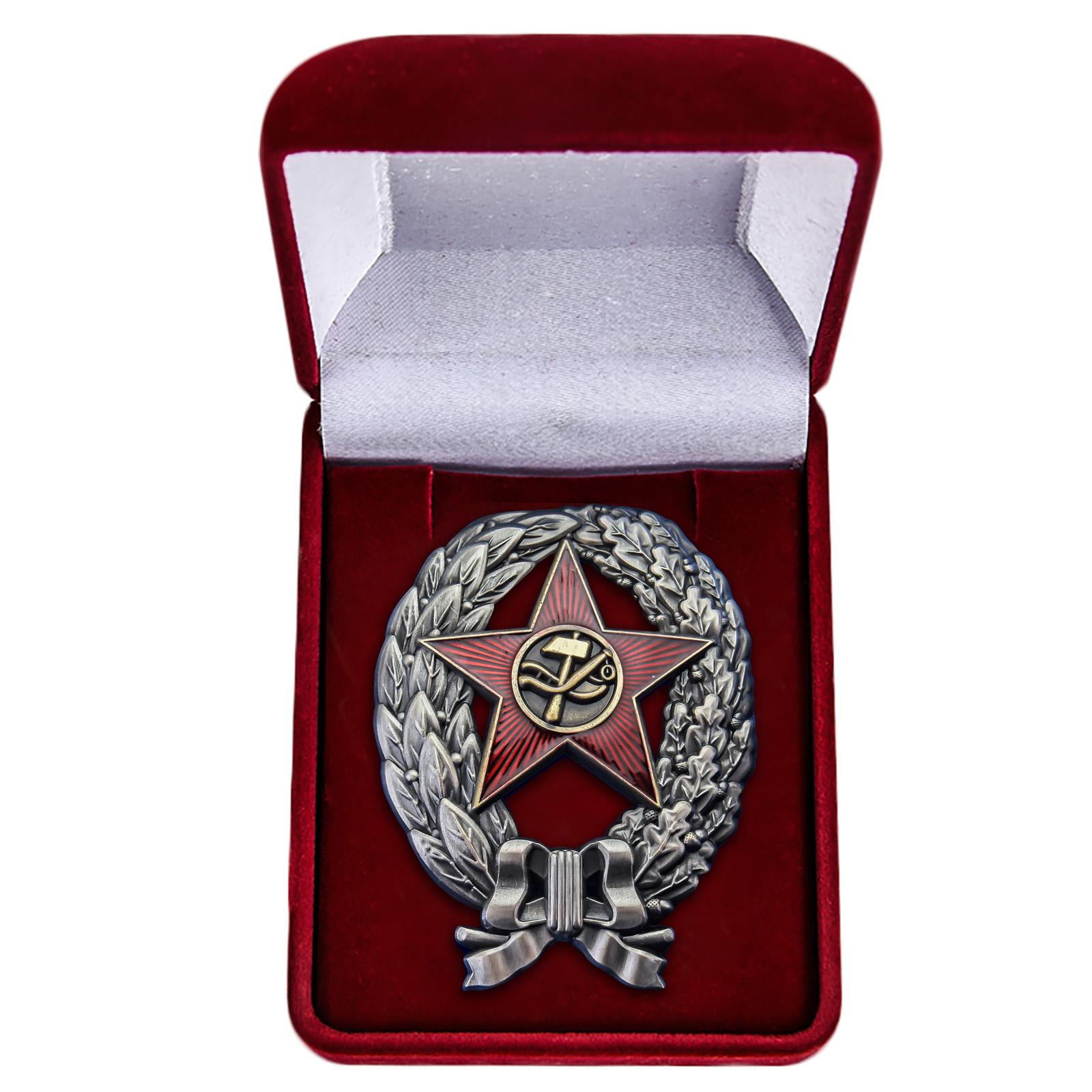 Латунный знак Красный командир РККА 1918 год