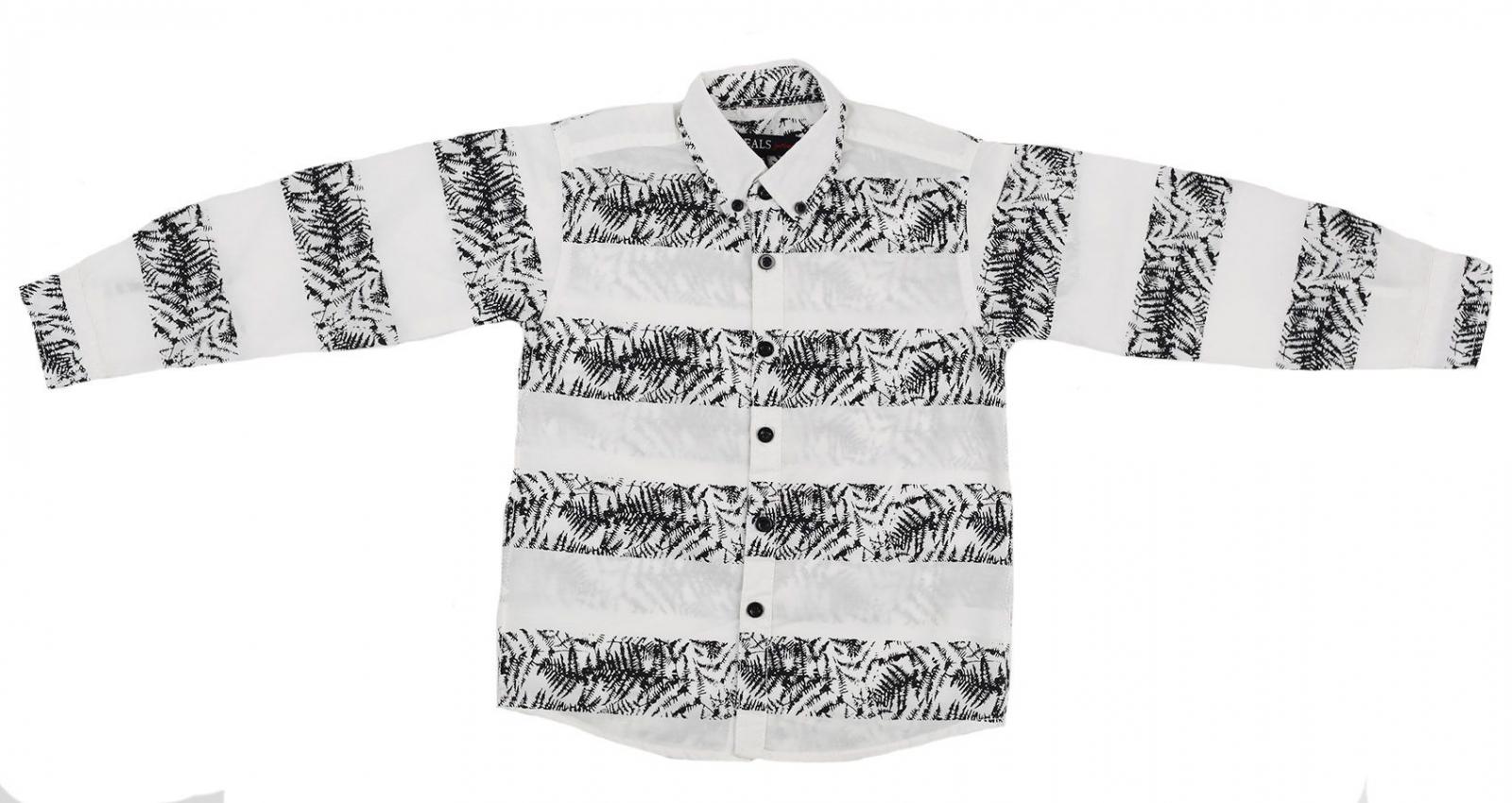 Лёгкая летняя рубашка с длинным рукавом Ideals-1