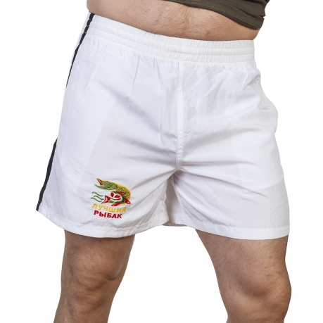 Легкие белые шорты для мужчины-рыбака