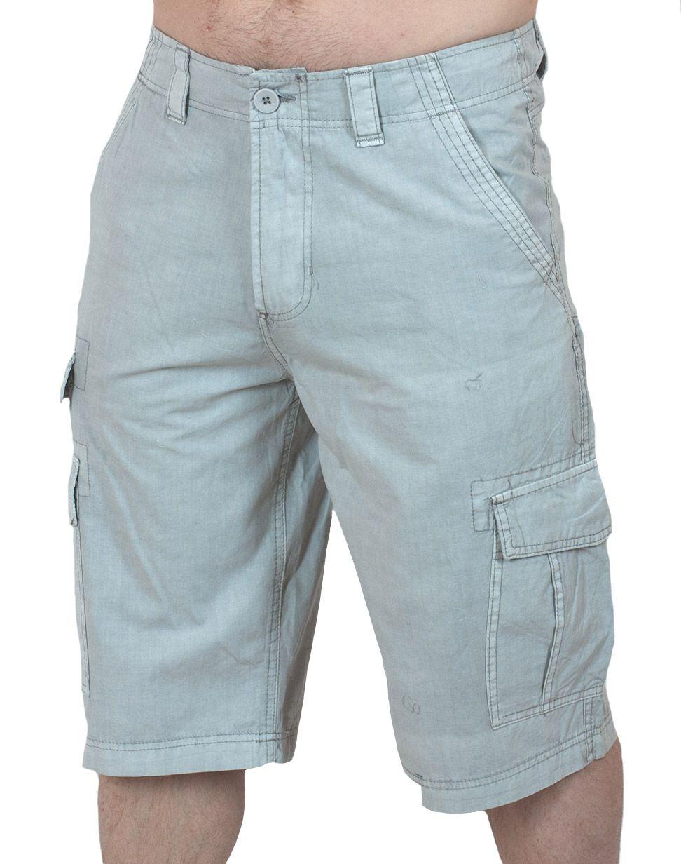 Легкие светлые шорты карго (Carbon) - вид спереди
