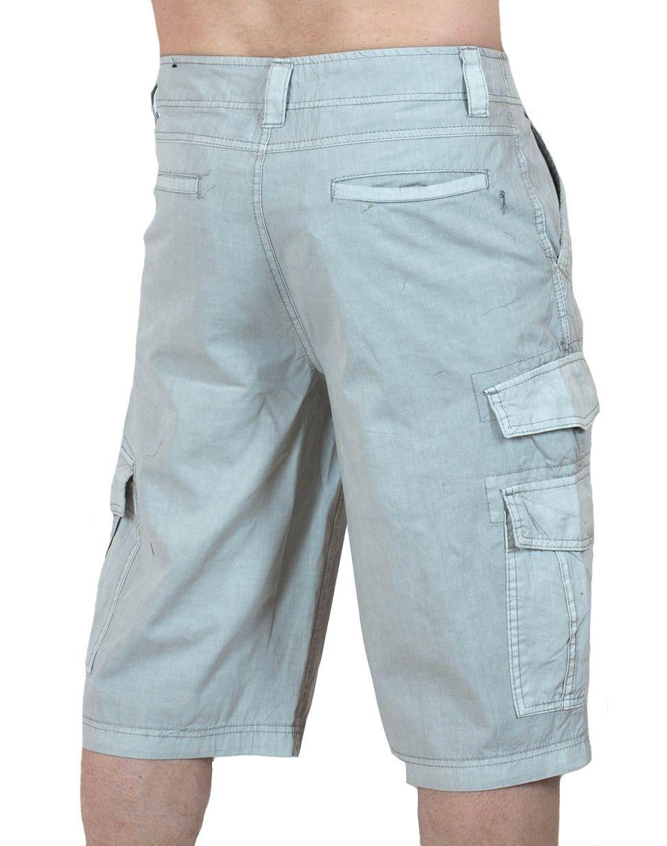 Легкие светлые шорты карго (Carbon) - вид сзади