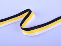 Лента чёрно-жёлто-белая (3x50 см)