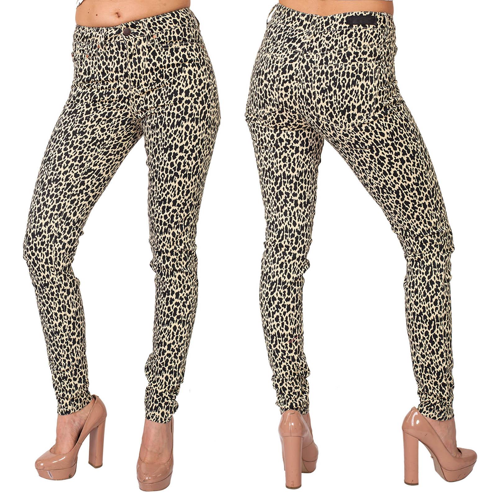 Женские зауженные леопардовые брюки Pieces.