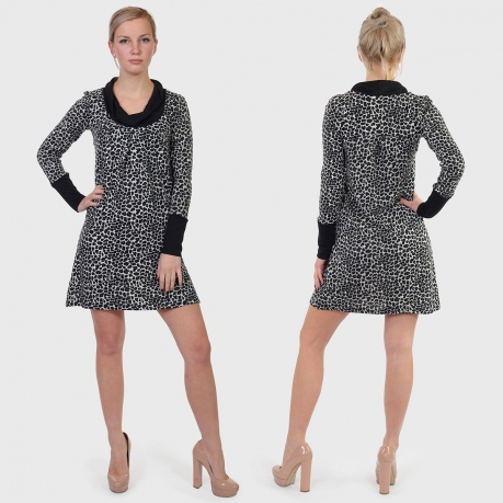 ae384c9f6f5 Женственное леопардовое платье ColleXion.