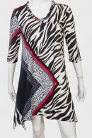 Леопардовое женское платье с ассиметричным принтом