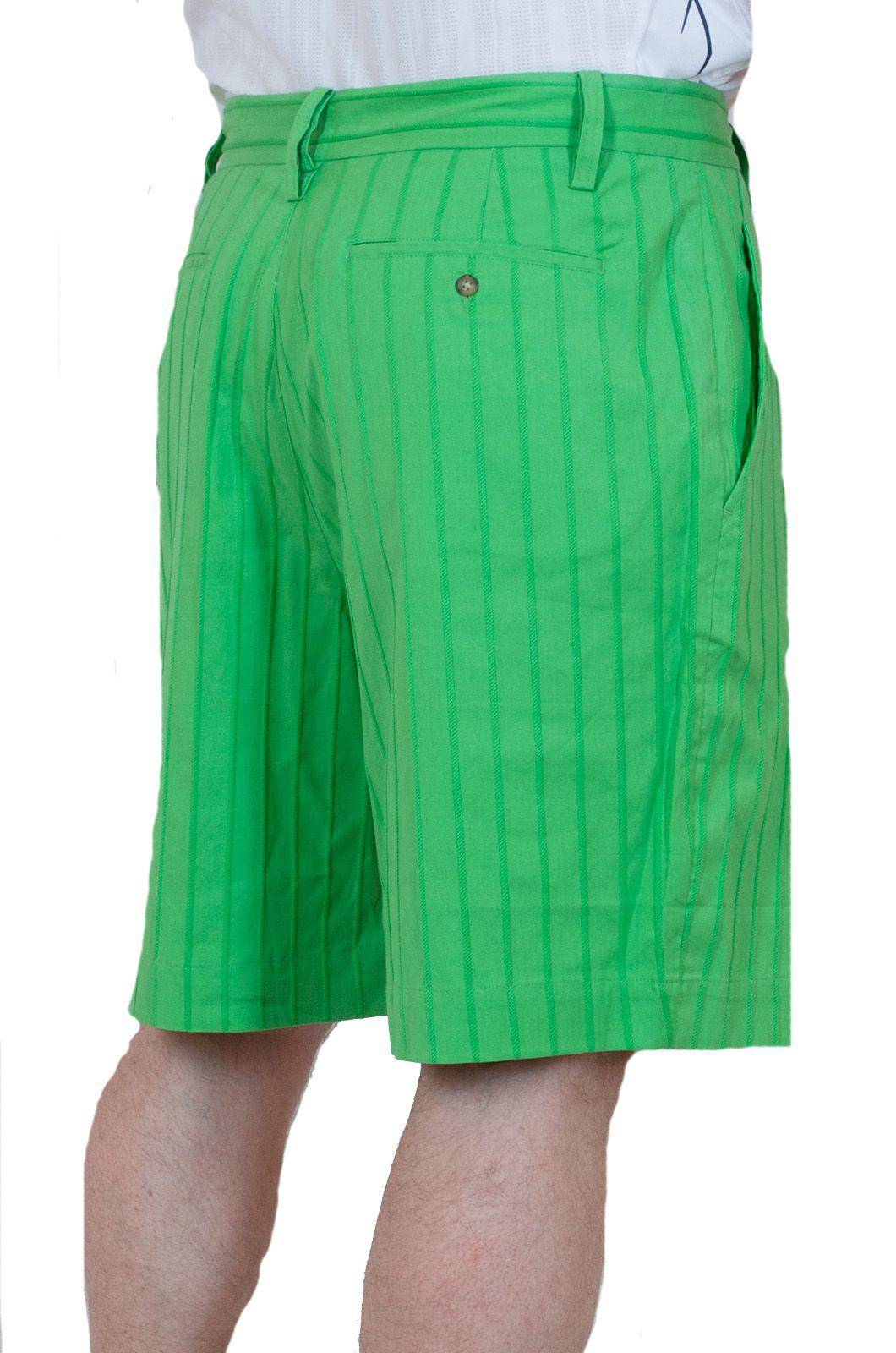 Летние мужские шорты салатовые - вид сзади