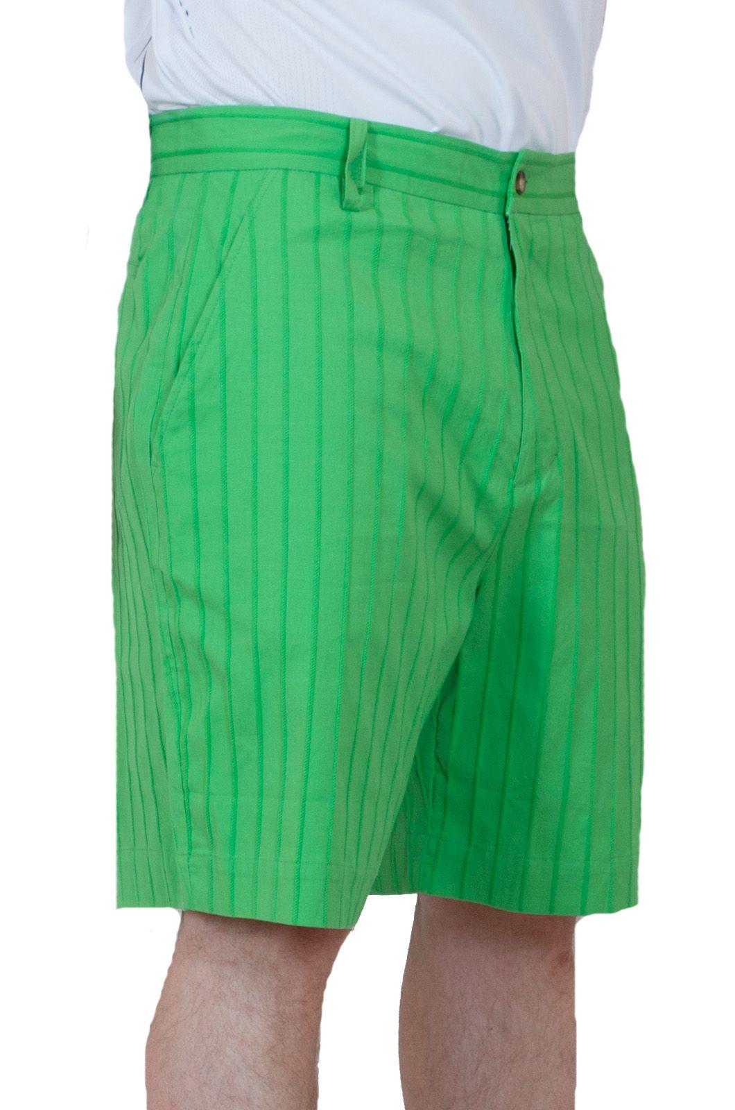 Летние мужские шорты салатовые - вид сбоку