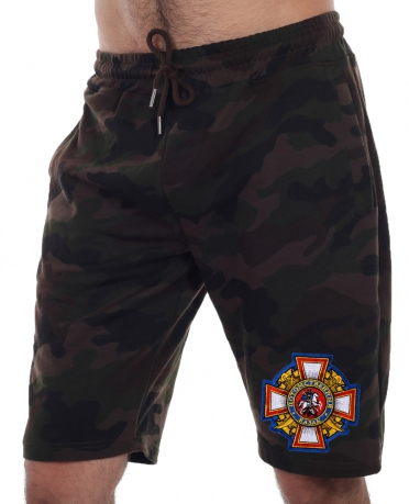 Купить летние мужские шорты с шевроном Потомственного казака