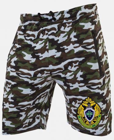 Летние мужские шорты в камуфляжной расцветке с шевроном ПС