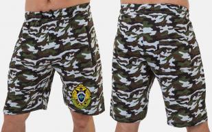Летние мужские шорты в камуфляжной расцветке с шевроном ПС купить онлайн