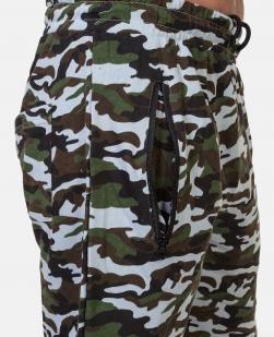 Летние мужские шорты в камуфляжной расцветке с шевроном ПС купить выгодно