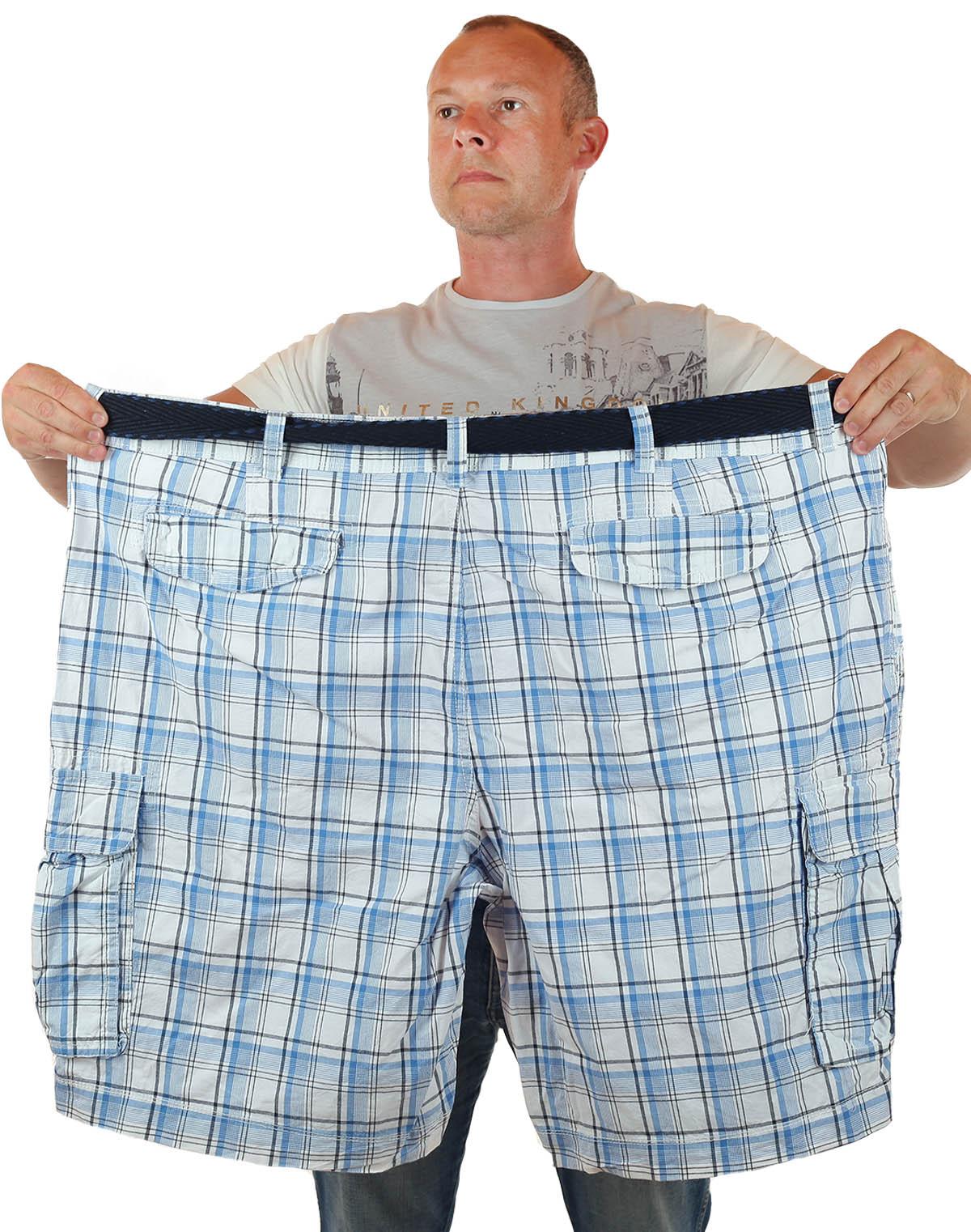 Купить летние шорты баталы в клетку по выгодной цене