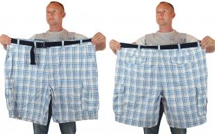 Летние шорты баталы в клетку по лучшей цене